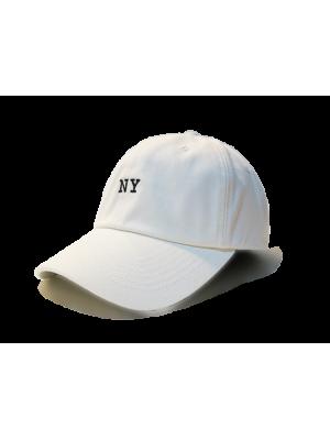 Premier Flipper Ballcap_香港限定系列_NY 刺繡圖案 (白色)