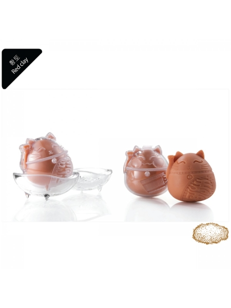 econeko - 韓國紅泥天然有機潔面皂-1件貓形套裝